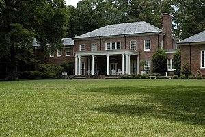 Dixon Gallery and Gardens - South Lawn gardens and rear museum facade