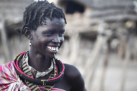 Scarified tribeswoman, South Sudan, 2011 South Sudan 012.jpg
