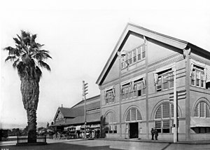 Southern Pacific Arcade Station on Alameda Street between Fourth Street & Sixth Street, ca.1895-1900 (CHS-4258).jpg