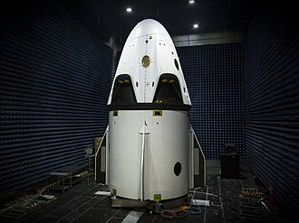 Dragon 2 - Dragon 2 spacecraft in a test chamber on top of the trunk