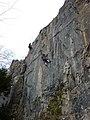 Sport climbing at Giggleswick Scar - geograph.org.uk - 1754353.jpg