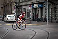 Sportsman on road bicycle in Zürich.JPG
