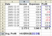 174px Spreadsheet