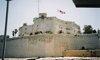 Flags of Malta and the SMOM on Fort St Angelo St-Angelo-Malta.jpg