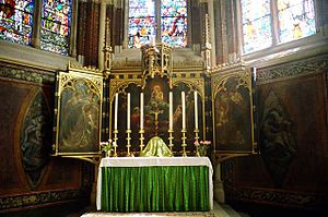 Altar cloth - The High Altar at St. John the Divine, Kennington, London.