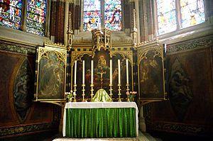 Altar cloth - The High Altar at St. John the Divine, Kennington, London.