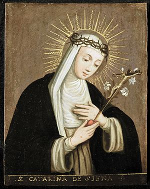 Plautilla Nelli - St. Catherine of Siena attributed to Plautilla Nelli