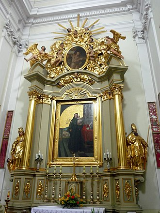 Church of St Francis in Warsaw - The side altar to St. Anthony of Padua