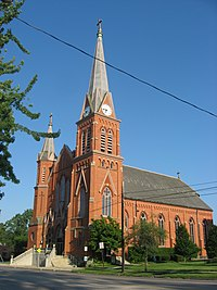 St. Mary's Catholic Church in Delaware from northwest.jpg