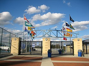 St. Xavier High School (Cincinnati) - The entrance to Ballaban Field at St. Xavier Stadium.