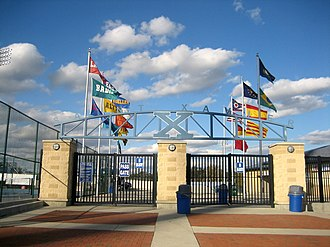St. Xavier High School (Cincinnati) - The entrance to Ballaban Field at St. Xavier Stadium.