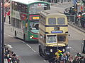 St Patrick's Day Parade 2015 - Digbeth - NXWM buses old and new (16206348263).jpg