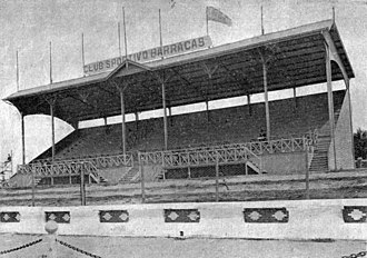 Estadio Sportivo Barracas - View of the official grandstand of   the stadium in the 1920s