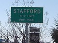 Stafford, Texas City Limit Sign-Texas FM Route 1092.jpg