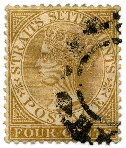 Stamp Straits Settlements 1883 4c