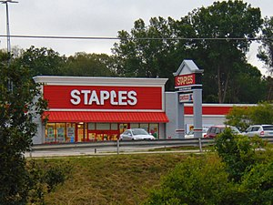 Staples Inc. - A typical location in Mansfield, Connecticut