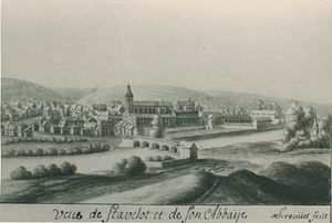 Stavelot - The town and abbey of Stavelot, c. 1735