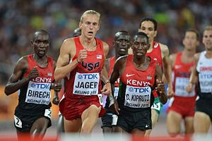 2015 World Championships in Athletics – Men's 3000 metres steeplechase - Image: Steeple men final Beijing 2015