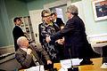 Steingrimur J. Sigfusson, finansminister Island, Sinikka Bohlin Noridka radets president och Ole Norrback ledare av Nordiskt Granshinderforum pa Nordiska radets session i Stockholm 2009.jpg