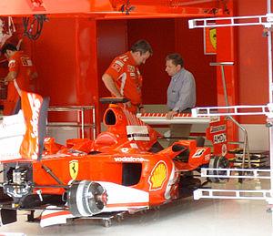 Nigel Stepney - Nigel Stepney and Jean Todt at the 2005 Italian Grand Prix