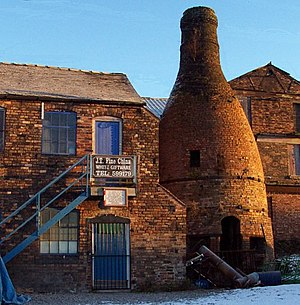 Thomas Whieldon - Stoke-on-Trent Bottle Kiln. One of the few remaining examples of a bottle kiln still standing in the pottery district of Longton, Stoke-on-Trent.