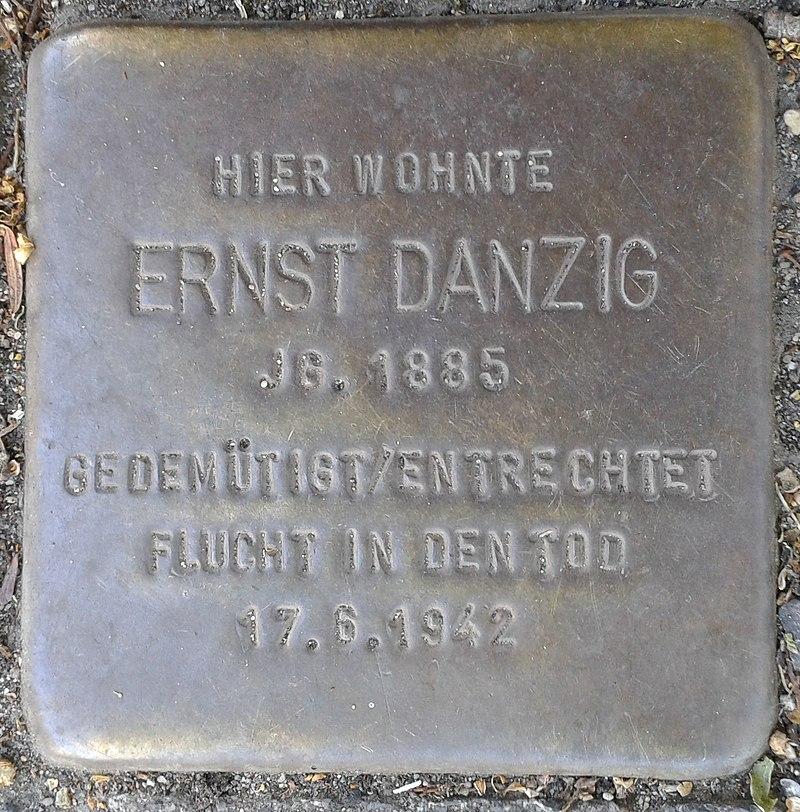 Stolperstein Bergisch Gladbach Bensberger Straße 188a Ernst Danzig