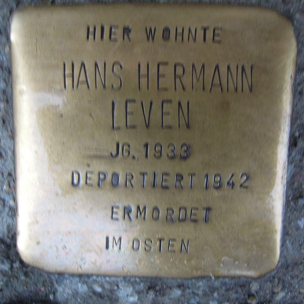 Stolperstein für Hans Hermann Leven