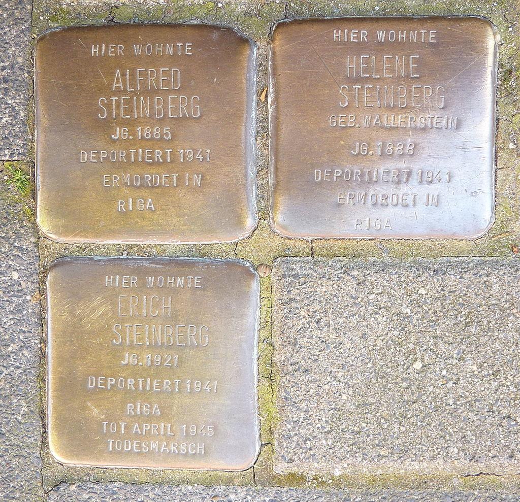 Stolperstein Familie Steinberg, Münster.JPG