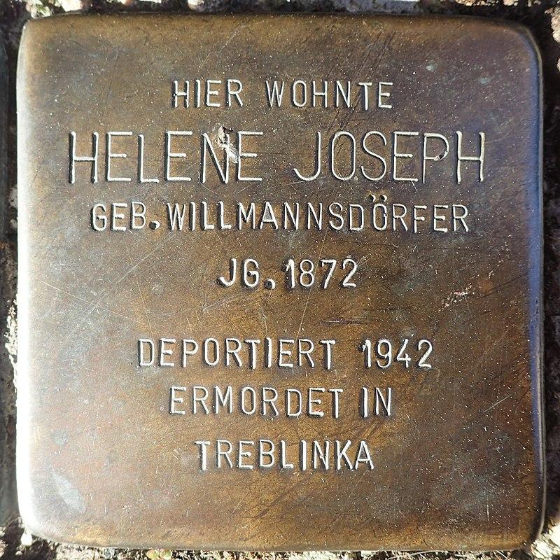 Stolperstein für Helene Joseph geb. Willmannsdörfer