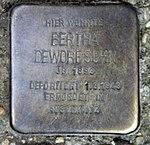 Stolperstein Richard-Sorge-Str 34 (Frhai) Bertha Deworesohn.jpg