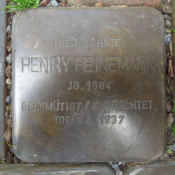 File:Stolperstein Rinteln Bäckerstraße 53 Henry Heinemann.jpg
