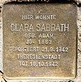 Stolperstein Stierstr 21 (Fried) Clara Sabbath.jpg