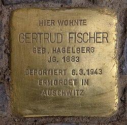 Photo of Gertrud Fischer brass plaque
