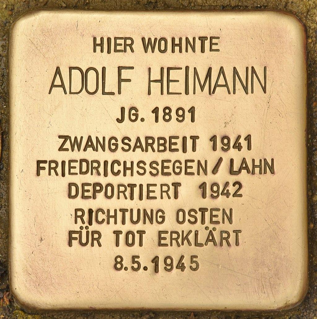 Stolperstein für Adolf Heimann (Montabaur).jpg