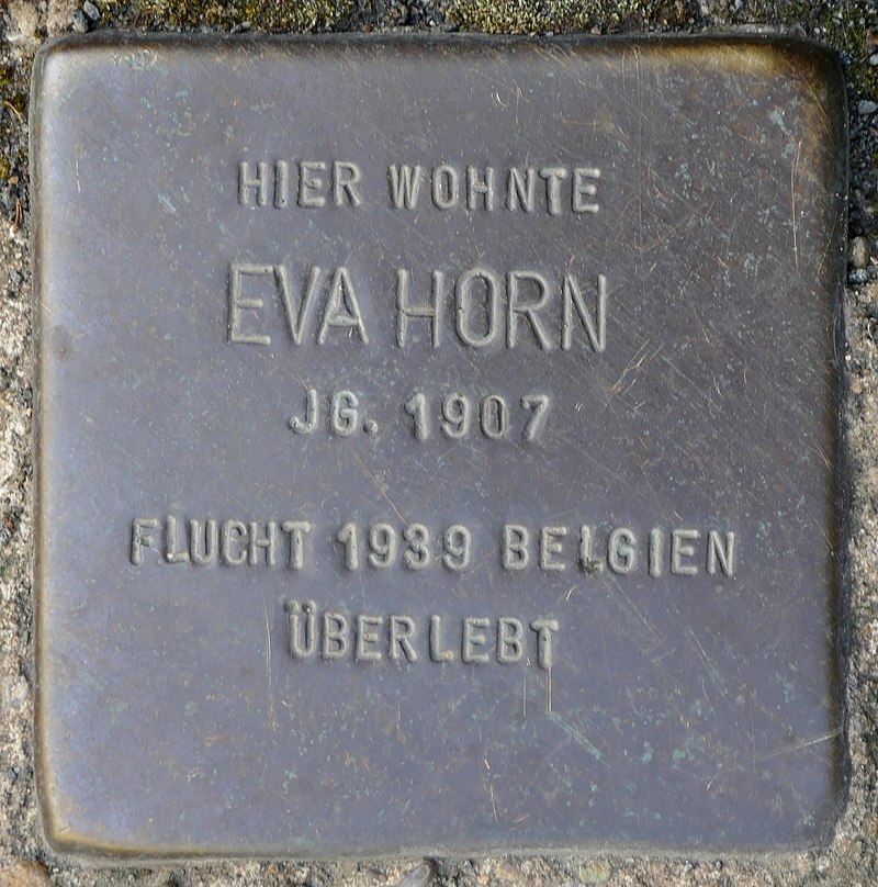 Stolpersteine Kommern, Eva Horn (Kölner Straße 11).jpg