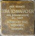 Stolpersteine Würzburg, Dora Schwabacher (Bismarckstraße 5).jpg
