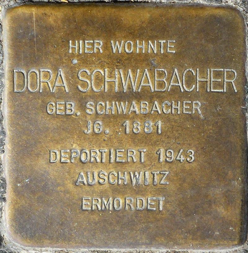 Stolperstein für Dora Schwabacher (Bismarckstraße 5)