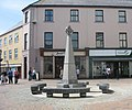 Stone Cross and seats in Market Square, Holyhead - geograph.org.uk - 1412555.jpg