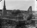 Stone anchor of the Tainui canoe, at Mokau, 1934 ATLIB 308010.png