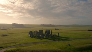 File:Stonehenge at Sunrise - by Drone..webm