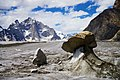 Stones and frozen snow - An abstract composition of nature-e.jpg