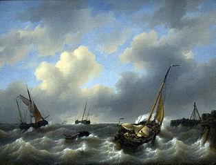 Storm op de Zuiderzee voor Medemblik