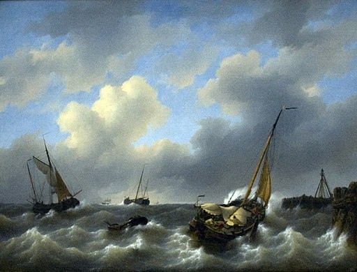 Storm on the Zuiderzee at Medemblik