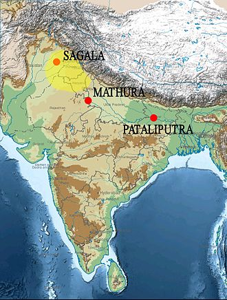 Strato II - Approximate region of East Punjab and Strato II's capital Sagala.