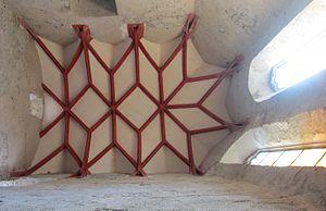 Strečno Castle - Reconstructed Stellar Rib Vault in the castle chapel