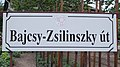 Street sign, Bajcsy-Zsilinszky Road, 2020 Mogyoród.jpg