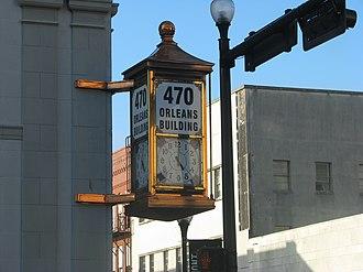 Orleans Building - Image: Streetclockbeaumonto rleans