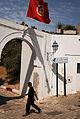 Streets of Sidi Bou Said (Tunisia flag). Northern Tunisia, Mediterranean Sea, Northern Africa.jpg