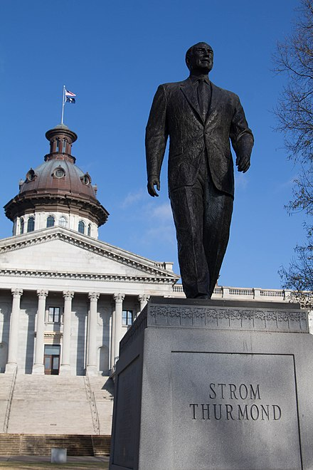 The statue honoring Strom Thurmond on the south side of the South Carolina State House - Strom Thurmond