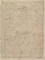 Studies for Apollo and Daphne, Zeus and Juno, Orpheus and Eurydice and other figures (recto and verso) MET DP820290.jpg